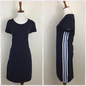 Vintage 80's-90's Side Stripe Skort Mini Dress